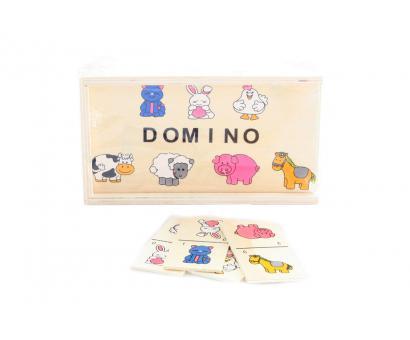 Drevené domino zvieratá