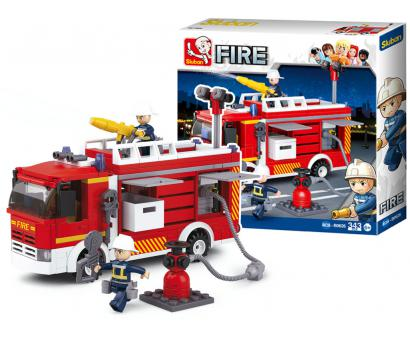 Staveb.Požiarne auto s čerpadlom 343ks