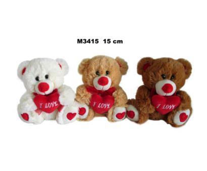 Medveď so srdcom 15cm