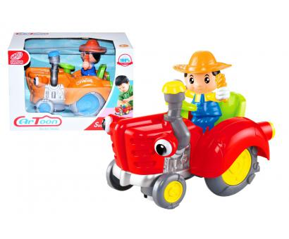 Farmár na traktore, bat.