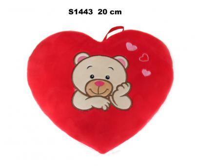 Srdce s medvedíkom 20cm