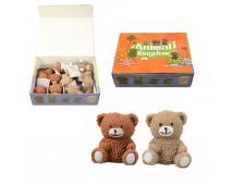 Zvieratko - medvedík 12 ks v boxe