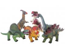 Dinosaurus 6 druhov zvukový 33cm