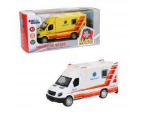 Ambulancia kovová, spätný chod 12cm