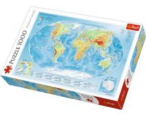 Puzzle 1000 Fyzikálna mapa sveta