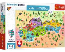 Puzzle 44 edukatívna mapa Slovenska