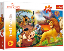 Puzzle 100 Disney Leví Kráľ