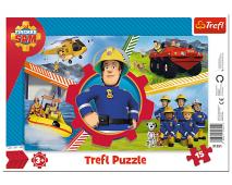 Puzzle 15 rámkové Požiarnik Sam