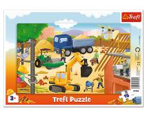 Puzzle 15 rámkové Na stavbe