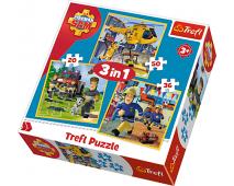 Puzzle 3v1 Požiarnik Sam