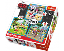 Puzzle 3v1 Mickey Mouse