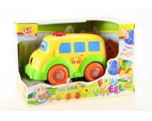 Baby autíčko,autobus na batérie 21cm
