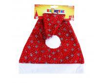 Čiapka vianočná striebor. vločky 40cm
