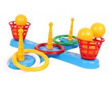 Aktívna hra s krúžkami a loptičkami