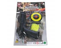 Pištol na karte s guličkami 28x18cm