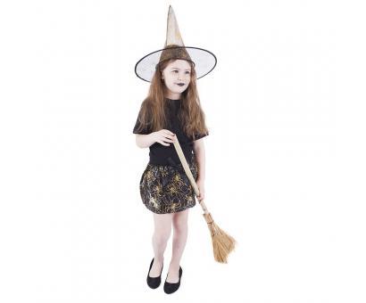 Kostým čarodejnice /hall-tutu, klobúk