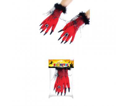 Rukavice Halloween červené