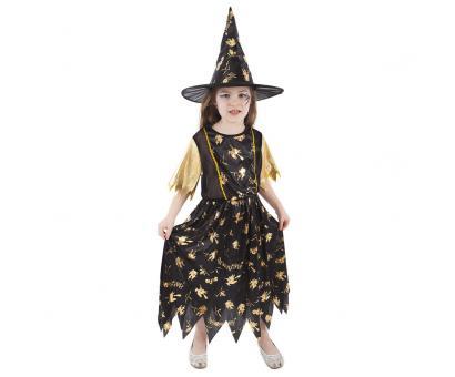 Kostým čarodejnice M, čiernozlatý
