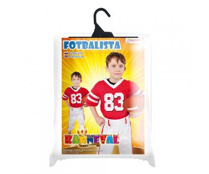 Kostým fotbalový hráč - velkosť L