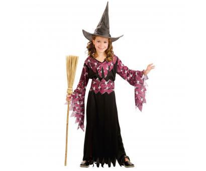 Šaty na karneval - Čarodejnica,120-130cm