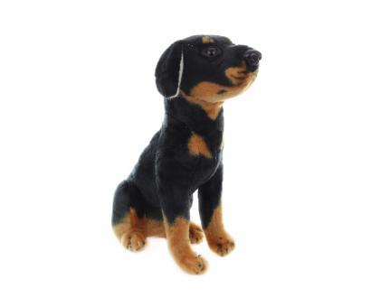 Plyš pes sediaci, čierny 24cm